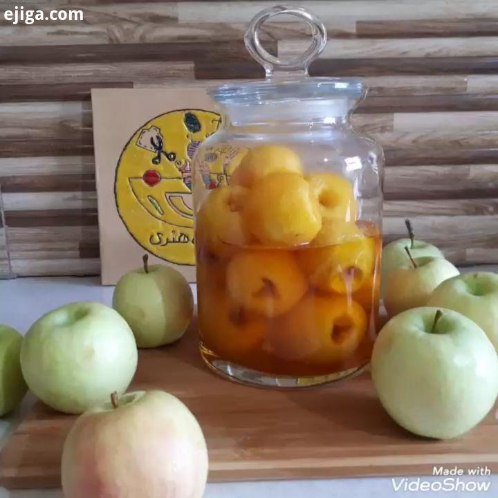مربای سیب گلاب آشپزخانه طاهره هنری مربا طاهره هنری همراهم الهی که شاد سلامت باشید با مربای سیب