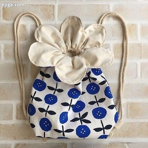 ایده زیبا برای دوخت کیسه پارچه ای به شکل گل...