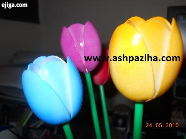 Making - tulip - to - a disposable spoon (7)